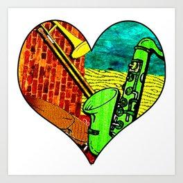 Earthy Jazz Art Print