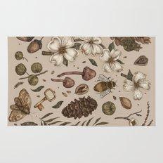 Nature Walks (Light Background) Rug