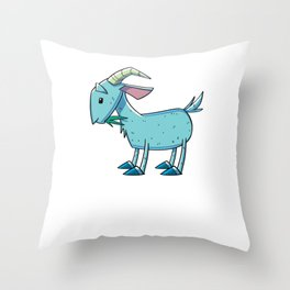 Goat Funny Throw Pillow
