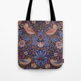 Birds in The Flower and Strawberry Garden Design Tote Bag
