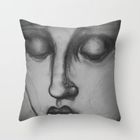 madonna Throw Pillows featuring The Madonna by Sarah Mary Street