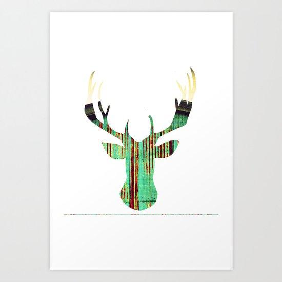 deer rust Art Print