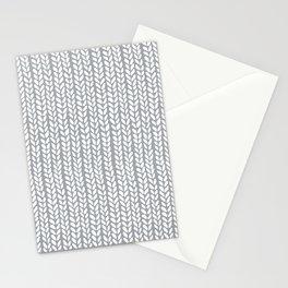 Knit Wave Grey Stationery Cards