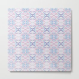 Dashes and Diamonds - Pinks and Blues Metal Print