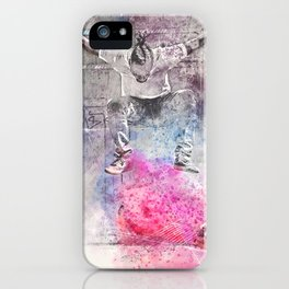 Skateboard Kickflip Painting iPhone Case