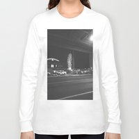 ferris wheel Long Sleeve T-shirts featuring Fading Ferris Wheel by Jane Lacey Smith