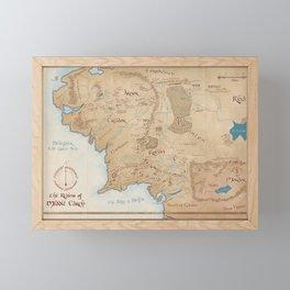 Third Age Map // Fantasy Map Framed Mini Art Print