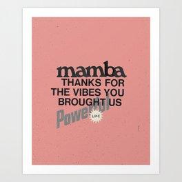 Mamba Art Print