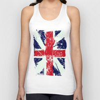 union jack Tank Tops featuring Union Jack  by UrbanCandy