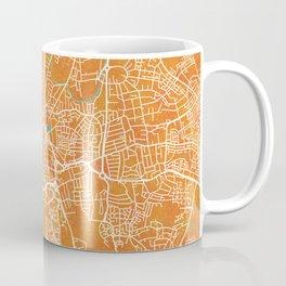 Coventry, England, Gold, Blue, City, Map Coffee Mug