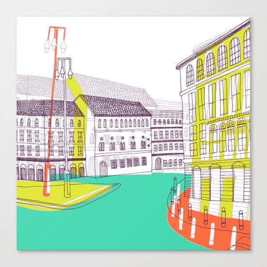 Urban Life II Canvas Print