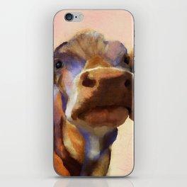 Cora the cow, cow art, cow, farm, animal iPhone Skin