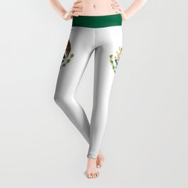 Coat of Arms & Seal  of Mexico on white Leggings