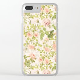 Vintage & Shabby Chic - Summer Rose Garden Clear iPhone Case