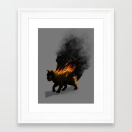 This Cat Is On Fire! Framed Art Print