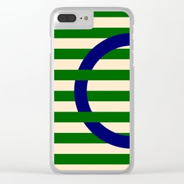 GEOMETRY BLUE&GREEN III Clear iPhone Case