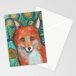 Mandala Fox Stationery Cards