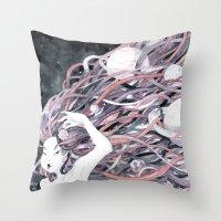 solar system Throw Pillows featuring Solar System by Mana De Alba
