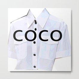 coco fashion week look Metal Print