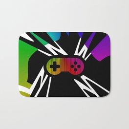 Rainbow Gamer Controller Bath Mat