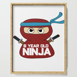 6th Birthday Ninja Party Samurai Ninjas Gift Japanese Ninja stars Fighter Gift Serving Tray