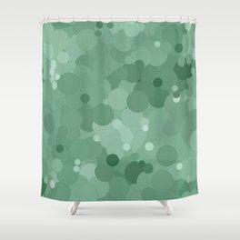 Grayed Jade Bubble Dot Color Accent  Shower Curtain