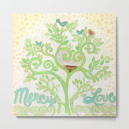 Mercy & Love by Sandy Thomson Metal Print