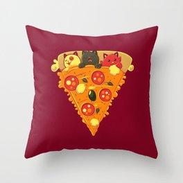 Pizza Cat Throw Pillow