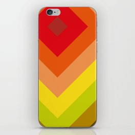 Squares, concentric squares. With a lot of shades of red and orange and brown and green and yellow. iPhone Skin