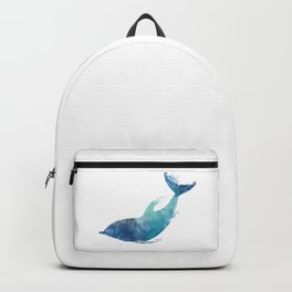 Watercolor playing Dolphin Backpack