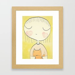 my baby fox Framed Art Print