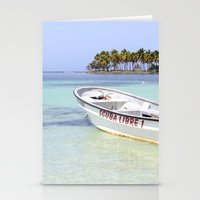 scuba Stationery Cards featuring Scuba Libre by Dancing Dream
