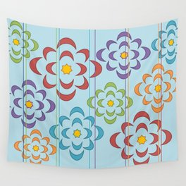 Flowers in the Sky Wall Tapestry