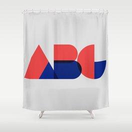 Geometric ABC Shower Curtain