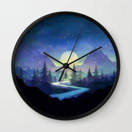 Touching the Stars Wall Clock