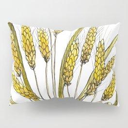 Golden wheat painting Pillow Sham