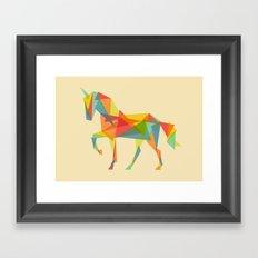 Fractal Geometric Unicorn Framed Art Print