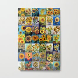 Sunflowers Montage Metal Print