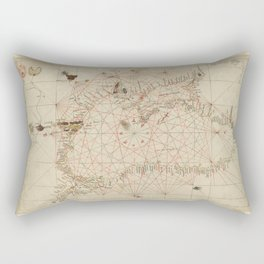 Antique / Vintage Map - The Black Sea, from Andrea Bianco's Atlas (1436) Rectangular Pillow