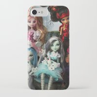 monster high iPhone & iPod Cases featuring We're All Mad Monster High Dolls MHSQ by KittRen