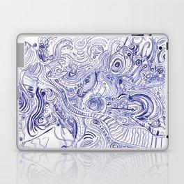 Blue Ink Laptop & iPad Skin