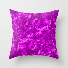 A chaotic cluster pink bodies on a light background. Throw Pillow