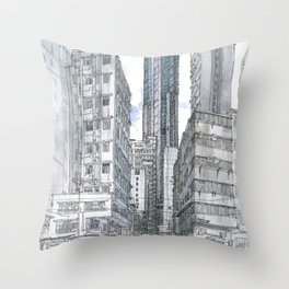 Hong Kong. Burrows street Throw Pillow
