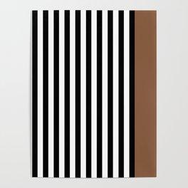 Liquorice allsorts, brown Poster