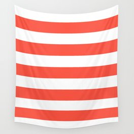 Ogre Odor - solid color - white stripes pattern Wall Tapestry