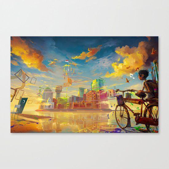 Life Style ! Canvas Print