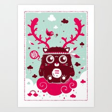 Hugh! Art Print