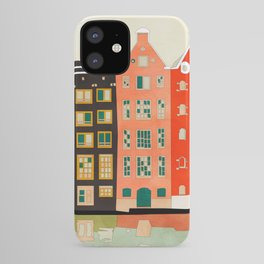 Travel europe city shape abstract art iPhone Case