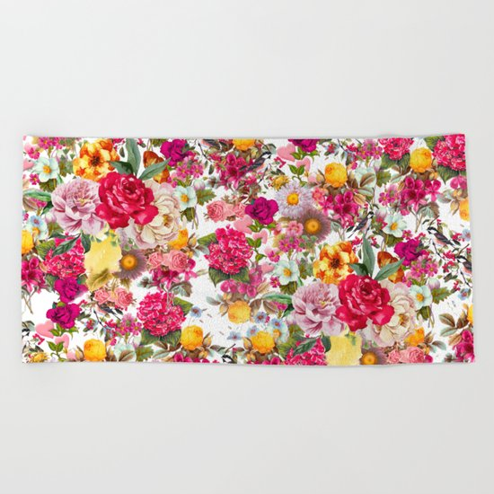 Botanic Pattern Beach Towel
