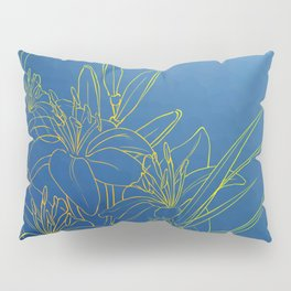 Day Lily Blue Pillow Sham